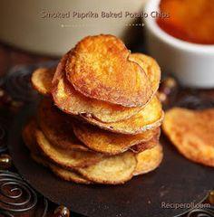 Sankeerthanam: Smoked Paprika Potato Chips | Super Bowl Sunday Snacks| Baked Potato Chips