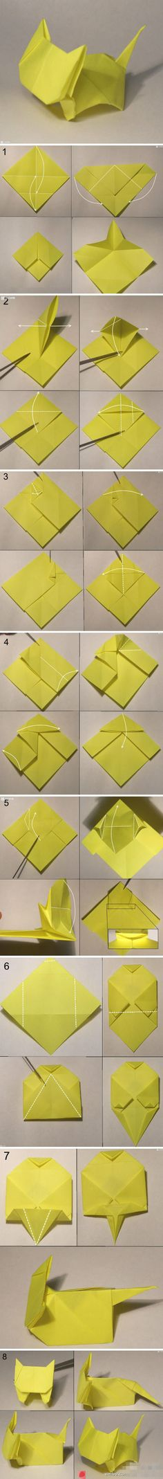 origami cat. I'm gonna try to find black origami paper and make it a black cat!