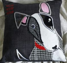 hand made bully dog cushion