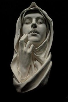 The Blessed Virgin Mary, Immaculate. Sculpture Wall Hanging Art
