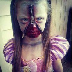 disfraz terrorífico niña zombie