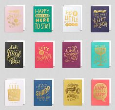 Steph Baxter - Freelance hand lettering and illustration - Lagom Hand Lettered Cards Hand Drawn Cards, Hand Drawn Type, Lagom Design, Design Design, Graphic Design, Retro Logos, Vintage Logos, Typography Prints, Hand Typography