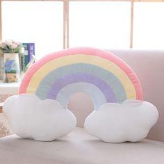 Ins Rainbow Pillow Love Clouds Cushions Baby Girl Birthday Gift Super Soft Sofa Chair Cushion Bedroom Decoration Cuscini Divano
