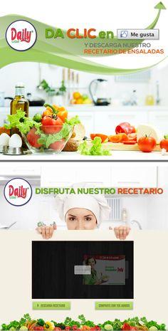 Diseño recetario Daily Salad - facebook  https://www.facebook.com/DailySaladMexico/app_527209010623420