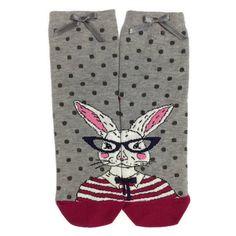 Bunny Socks, Cool Socks, Animal Socks, Cute Socks, Funny Rabbit Socks,... ($11) ❤ liked on Polyvore featuring intimates, hosiery, socks, women, bunny socks, cotton socks, cotton hosiery and animal socks