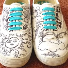 Drawn on shoes designed by Samantha Martin