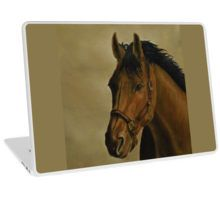 Laptop Skin,  unique,cool,fancy,beautiful,trendy,artistic,awesome,unusual,fashionable,accessories,gifts,presents,ideas,design,items,products,for sale,horse,equine,portrait,brown,redbubble