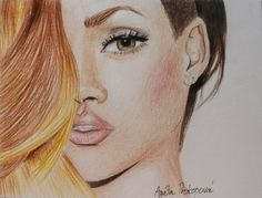 Celebrity Drawing of Rihanna by Agata Prokopova