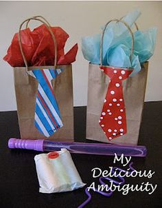 Tie Bags...Great for Father's Day and Guy Gifts!  My Delicious Ambiguity: