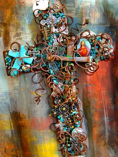 Wall Crucifix Rusty Cross 0f Crosses Wall Cross by TotallyCrosses, $72.00