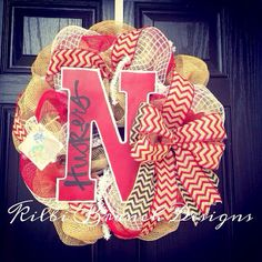 Hey, I found this really awesome Etsy listing at https://www.etsy.com/listing/161938064/burlap-wreath-red-black-white-inspired