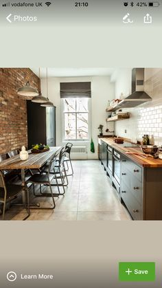 Narrow kitchen layout