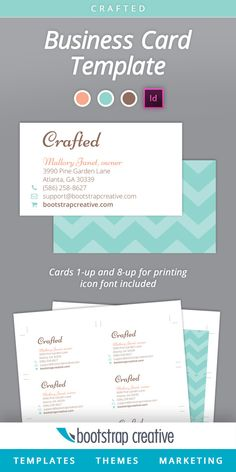 Business card inspiration x i like the choice of a vertical business card indesign template teal by bootstrap creative on creative market flashek Choice Image