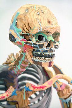 skeleton sculpture, by taylor baldwin.