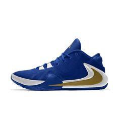 Zoom Freak 1 By You Custom Basketball Shoe Custom Basketball, Nike Basketball Shoes, Nike Shoes, Sneakers Nike, Mens Smart Casual Shoes, Nike Co, Jordan, Lebron James, Bracelets For Men