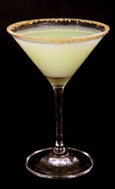 "Lemon Meringue Martini. Saw something similar on the menu at Americana in Seattle, using ""Whipped"" vodka instead of Licor 43."