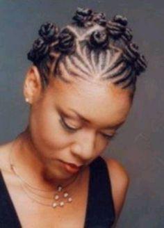 Bantu Knot with braids