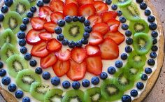 fruit pizza yum! This link does not take you to a recipe.  I just thought the options of fruit looked nice.