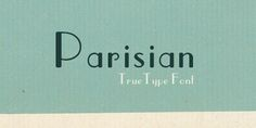 Parisian font is great for a #vintage wedding