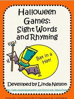 Four fall games for early sight words and rhyming. Great for small groups and literacy centers!     $