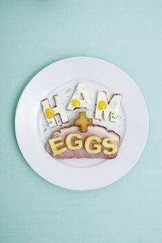 art direction | ham + eggs food typography styling - still life photography