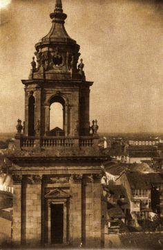 Torre da fachada principal da Catedral de Lugo, ca. 1915