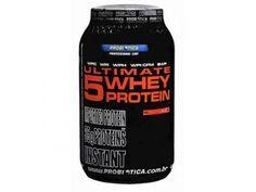 Ultimate 5 Whey Protein Premium Line Morango 900g - Probiótica