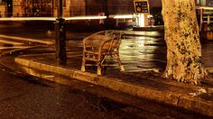 Chair, street, night (Suzhou, China) 02-2015