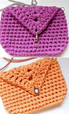 Stylish Crochet Bag  #bordado #crochet #Crochetpatterns #Knitting