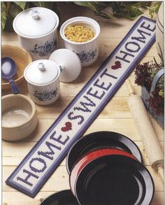 Home Sweet Home Plastic Canvas Pattern by needlecraftsupershop, $3.50