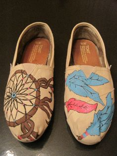 Custom Hand Painted TOMS by jordanforrest on Etsy, $75.00. <3