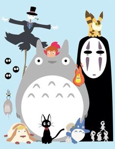 Some of Hayao Miyazaki's most beloved characters.