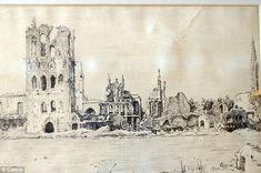Detailed: Lieutenant Kenneth Wootton's incredible diary includes poignant ink drawings