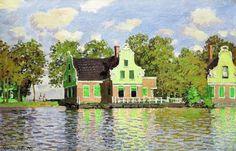 Maisons au bord de la Zaan à Zaandam (C Monet - W 185)