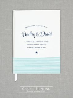 Hadley Beach Watercolor Waves Wedding Guest by Cricket Printing