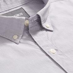 Bonobos Washed Button-Down Shirt (Heather Grey) - Standard Long Xxl Gray