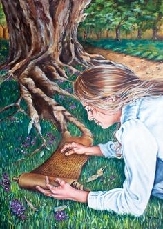 Prophetic oil painting : The 7 Spirits Of God series : The Spirit of Knowledge www.artofkleyn.com