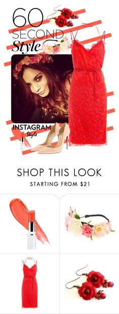 """""""60 Second Style - SelfieStyle"""" by giovanina-001 ❤ liked on Polyvore featuring Lancôme, claire's, Nina Ricci, Christian Louboutin, 60secondstyle and PVShareYourStyle"""