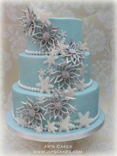 Winter Wedding - by Jipscakes @ CakesDecor.com - cake decorating website