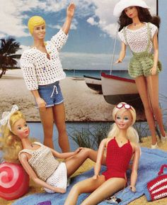 Barbie and Ken doll clothes pattern on Etsy.
