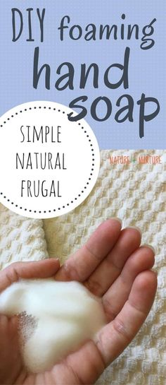 If you want to learn an natural, easy, inexpensive method for how to make DIY foaming hand soap, look no further! This recipe couldn't be easier. #handsoap #soap #diybeauty #nontoxic #naturalbeauty #castilesoap Natural Beauty Recipes, Natural Recipe, Frugal, Mousse, Homemade Deodorant, All Natural Skin Care, How To Make Diy, Soap Recipes, Home Made Soap