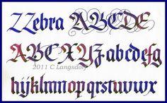 calligraphy - blackletter, fractur, gothic  parallel pen by pilot