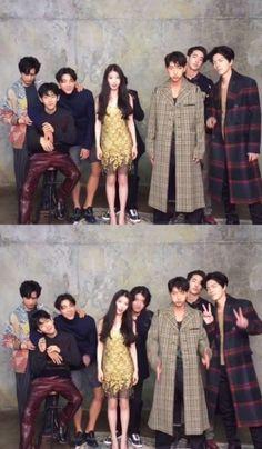 """""""Scarlet Heart: Ryeo"""" IU in between 7 actors"""