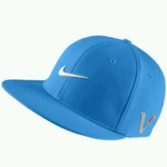 Blue Nike flat bill hat