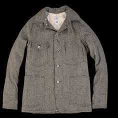 UNIONMADE - Post Overalls - Lined Engineers Jacket HB Tweed in Grey