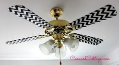 Ceiling Fan Makeover With Black
