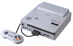 Sony's original prototype PlayStation, a (Nintendo) SNES with a CD-ROM drive.