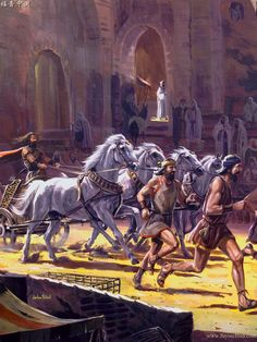 """2 Samuel 15:1 - """"After all these things, Absalom acquired for himself a chariot and horses and 50 men to run before him."""""""