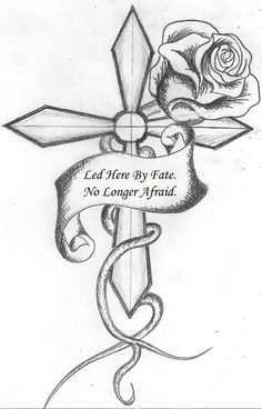Amazing Collection of cross tattoo designs for both men and women. Here we will discuss the background of cross tattoos including the kinds of crosses and the preferences of men and women on their body placement Cool Rose Drawings, Pencil Art Drawings, Art Drawings Sketches, Tattoo Sketches, Tattoo Drawings, Easy Sketches, Rose Drawing Simple, Simple Drawings, Tattoo Art