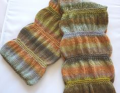 Ravelry: Project Gallery for Gathered Scarf pattern by Maryse Roudier